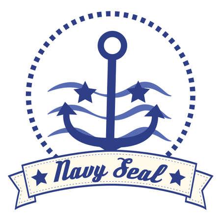 navy seal: navy seal banner Illustration