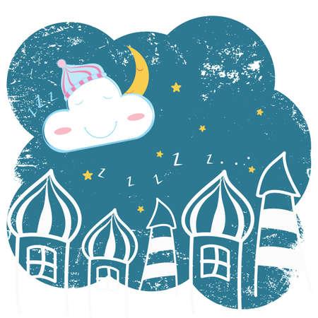 minaret: good night background Illustration