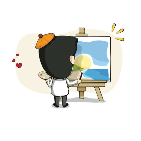 painting: artist painting