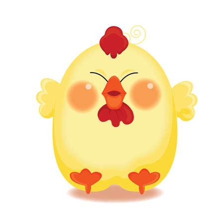 chick: shy chick Illustration