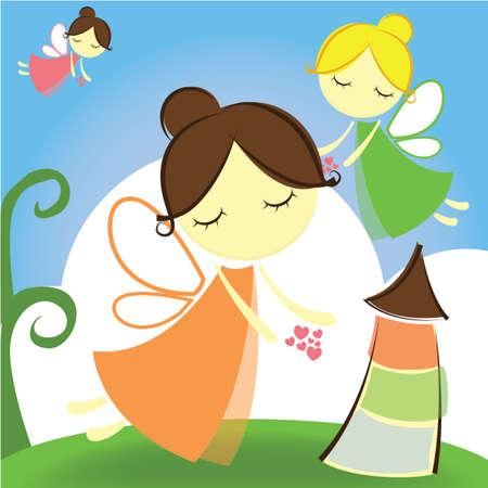 minaret: girls flying