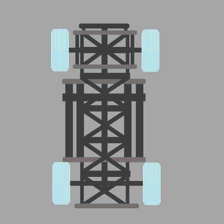 chassis: car chassis Illustration