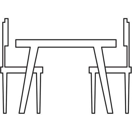 2 인용 의자가있는 식탁