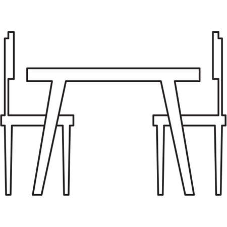 dining table and chairs: dining table with two chairs