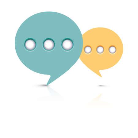 messaging: messaging bubble Illustration