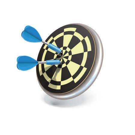 dartboard: dartboard with darts Illustration