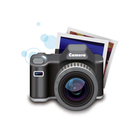 snapshots: camera with photos