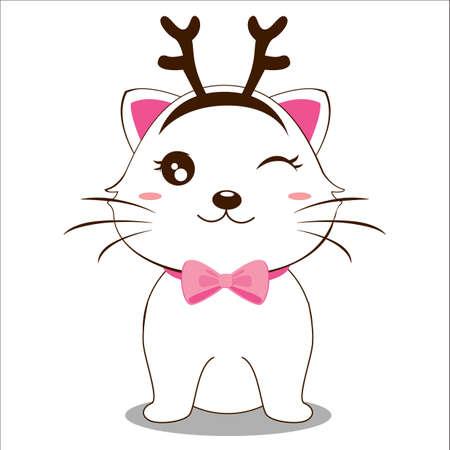 headbands: gato con diadema Vectores