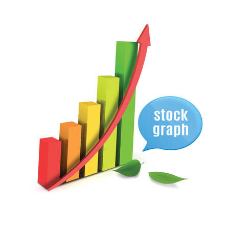 stockmarket chart: stock graph with speech bubble