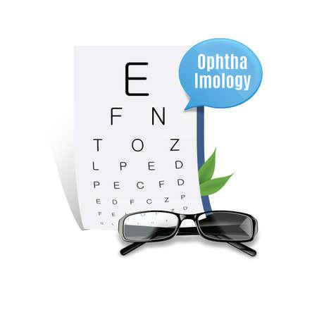 eyesight: eyesight chart with spectacles