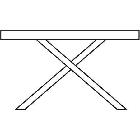 foldable: ironing board Illustration