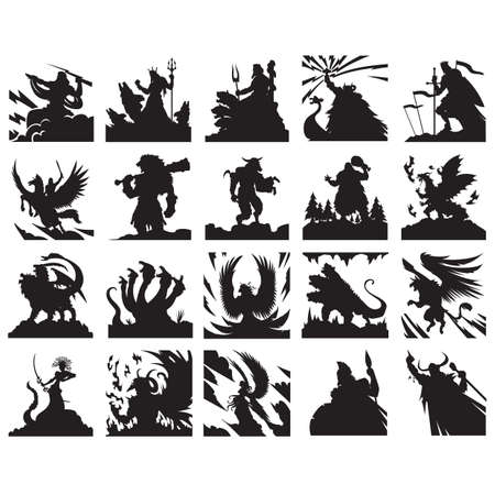 warriors: set of ancient warriors
