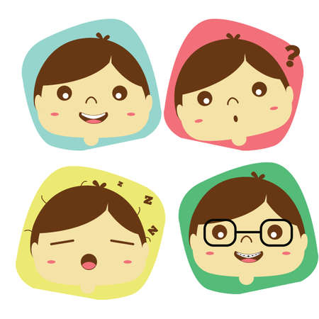 facial expression: different facial expression Illustration