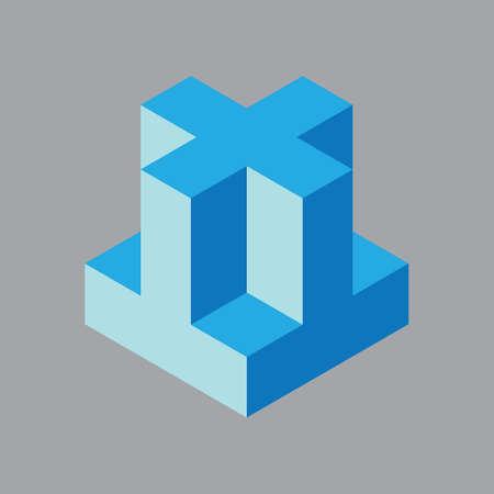 three dimensional: three dimensional cube