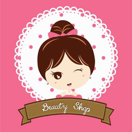 beauty shop: beauty shop banner Illustration