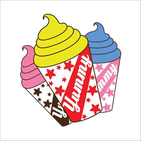 twirls: ice cream