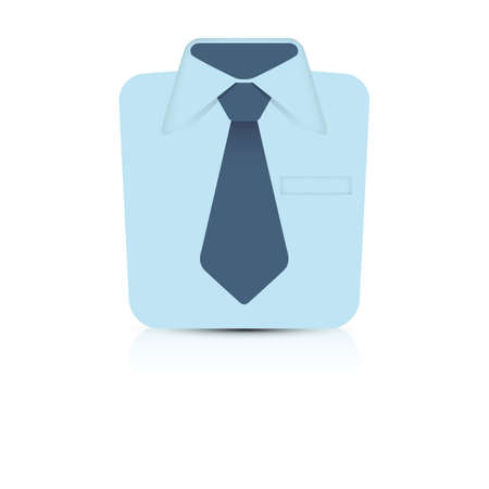 folded clothes: shirt with necktie