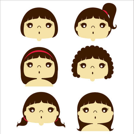 hair style: girls in different hair style