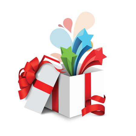 opened gift box