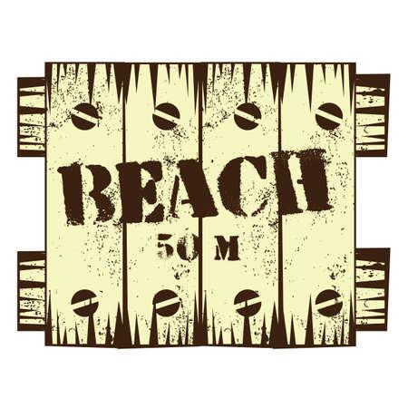 a signboard: beach signboard