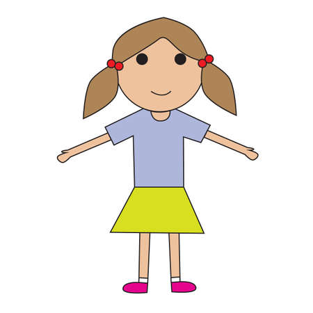 arms open: girl with open arms