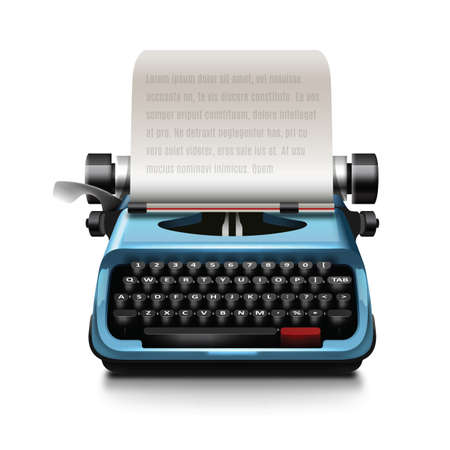 type writer: typewriter with paper