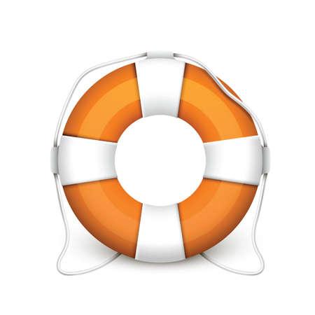 rubber tube: lifebuoy
