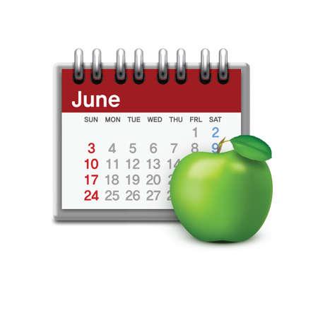almanac: calendar with apple