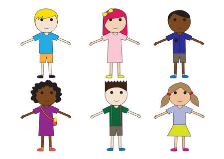 arms open: children with open arms Illustration