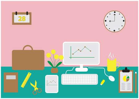 almanac: workplace Illustration