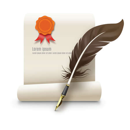 quills: contract and quill pen