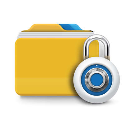 folder lock: folder with lock Illustration