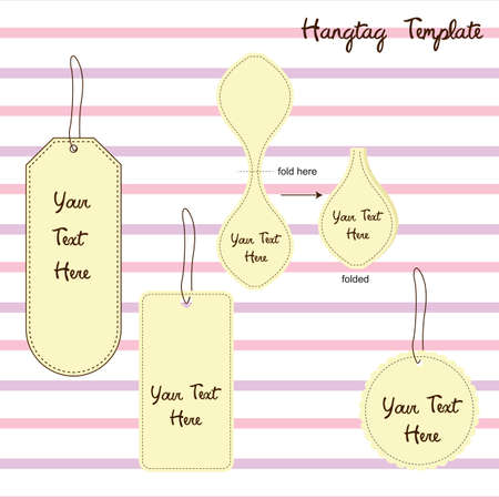 hang tag: hang tag template Illustration