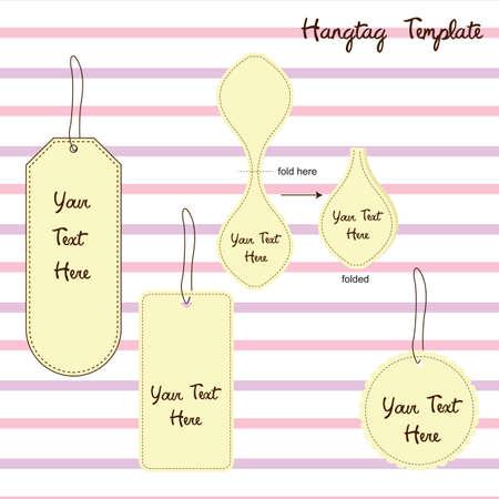 hang tag: hang tag template Illustration