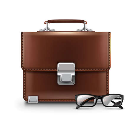 spectacles: business bag with spectacles