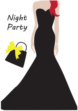 party outfit: womans night party outfit Illustration