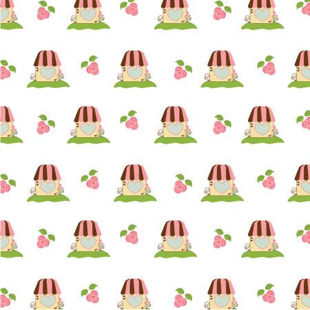 kennel: kennel background Illustration
