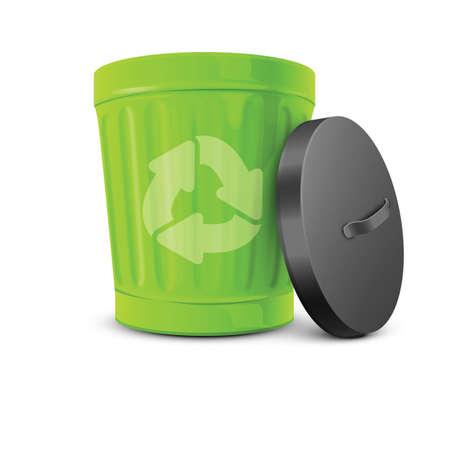 lids: recycle bin Illustration