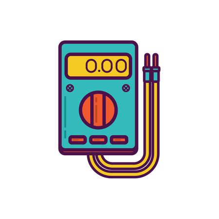electricity meter: digital multimeter