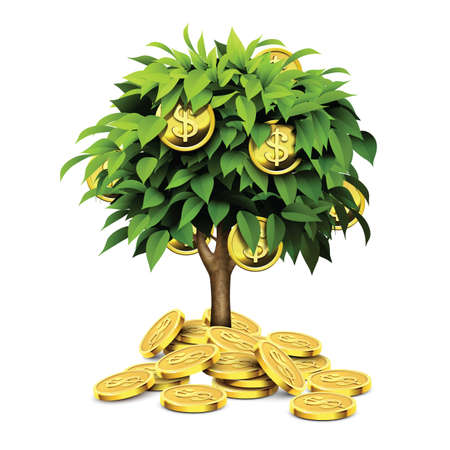 gold tree: gold coins tree