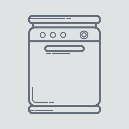 washer: dish washer Illustration