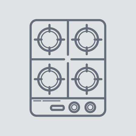 stove: cooking stove Illustration