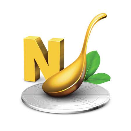 ladle: ladle with letter n