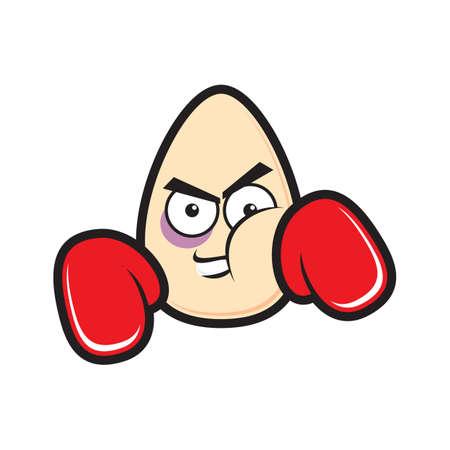 Easter egg comme boxeur Banque d'images - 52667139