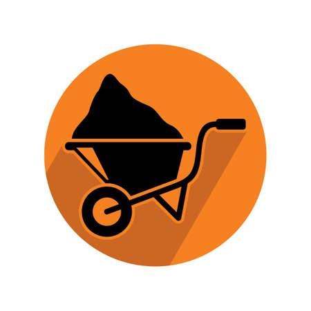 wheel barrow: wheel barrow with load Illustration