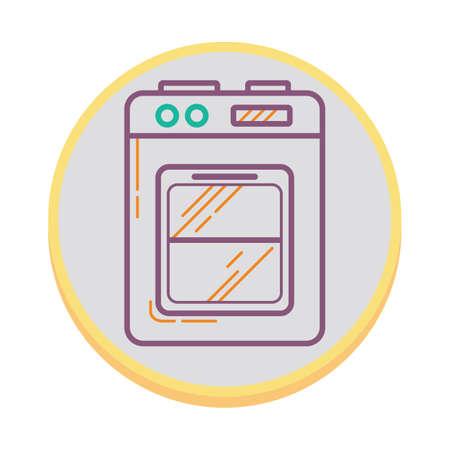 stove: electric stove Illustration
