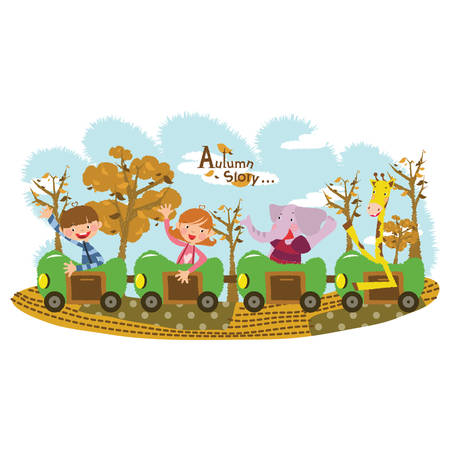 toy train: toy train ride Illustration