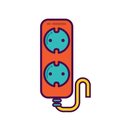 the cord: extension cord Illustration