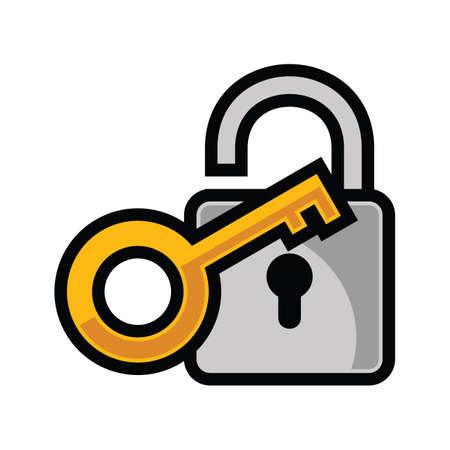 lock and key: lock and key Illustration