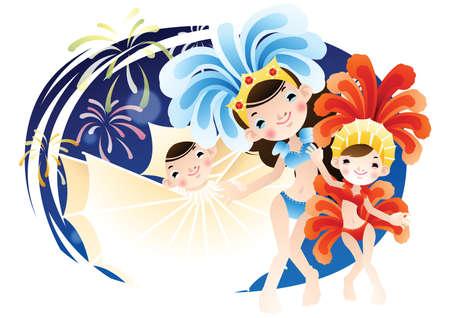 carnival girl: mardi gras celebration